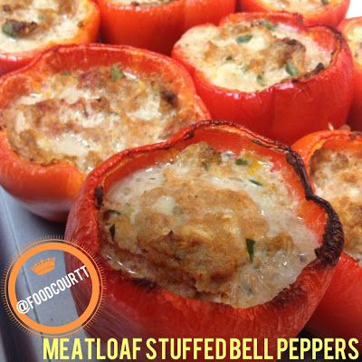 foodCOURTT: Meatloaf Stuffed Bell Peppers only 230 Calories and 6 Weight Watchers Points Plus!!