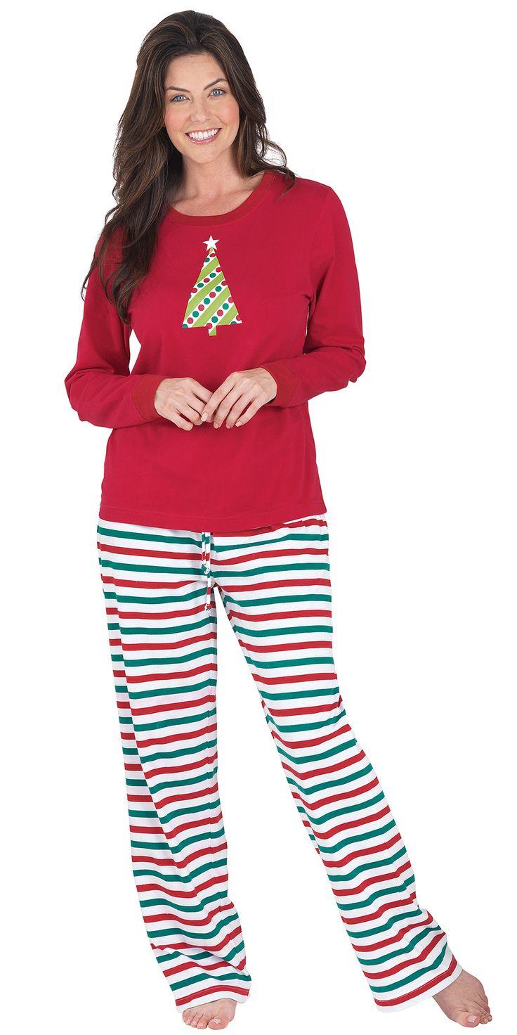 Holiday Stripe Women's Pajamas Pajamas women, Striped
