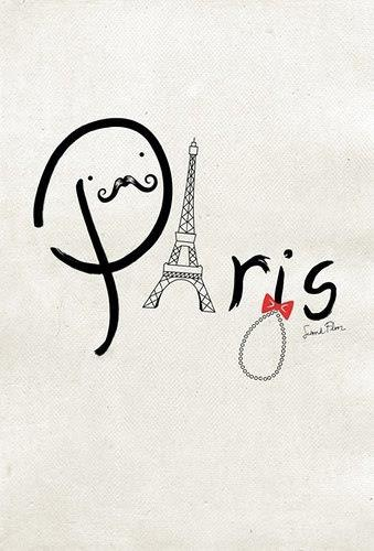 Happy Valentine's Day!!!!! Paris and a mostache LOVE IT!!