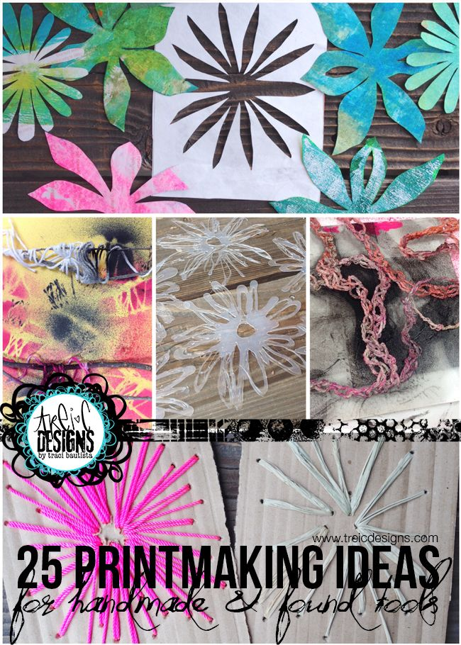 25 printmaking ideas for handmade + found tools
