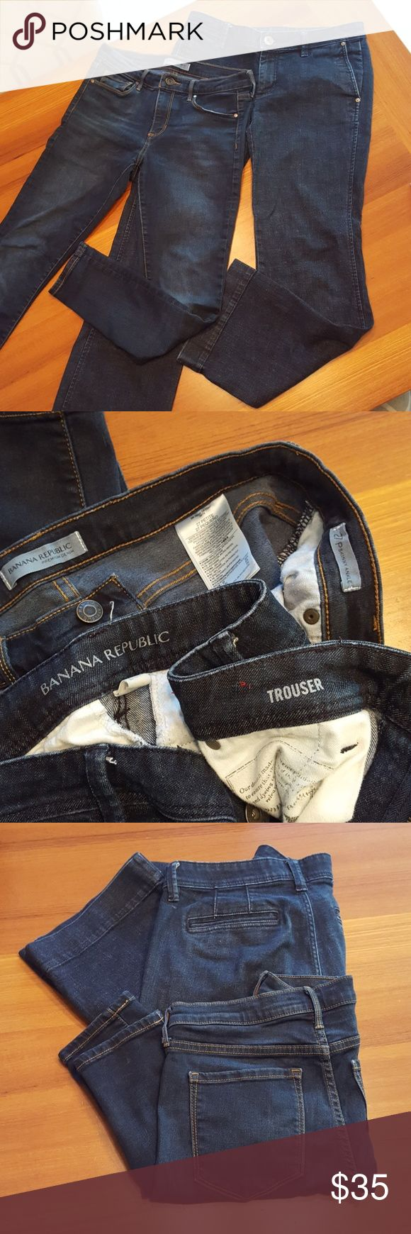 (2 pr) 27P 28P Banana Republic jeans lot/bundle 2 pairs of lady's jeans/ lot. Banana Republic denim trousers 28P, banana republic skinny ankle jeans size 27P. Excellent condition, premium denim. Banana Republic Jeans