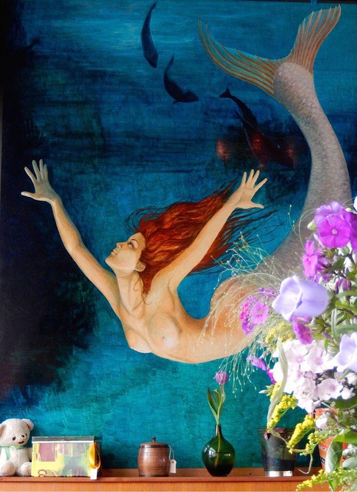 Painting, Mermaid, Strandhotel Formerum, Terschelling