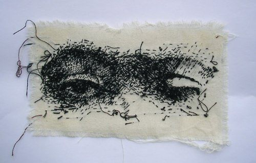 draw, sculpt, stitch etc (choice of media) the eyes from a famous past painting