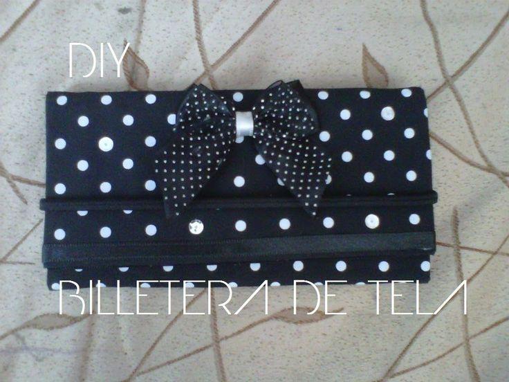 BILLETERA DE TELA - (Fácil de hacer)