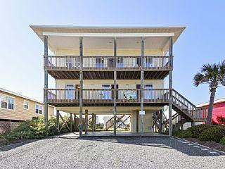 """""""Good Day Sunshine"""" Pet-Friendly, Ocean View Home (Sleeps 10) Topsail Beach, NC (Topsail Island)"""