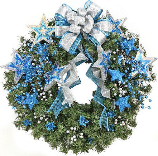Corona Azul / Navidad 2014 / Adorno / Decoración