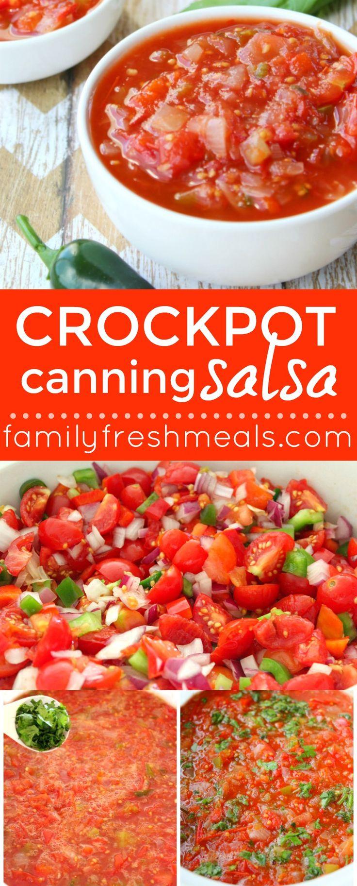 Crockpot Canning Salsa --- FamilyFreshMeals.com
