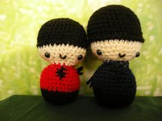 Free Amigurumi Kokeshi Doll Patterns : Amigurumi crochet wedding kokeshi couple doll pattern chibi