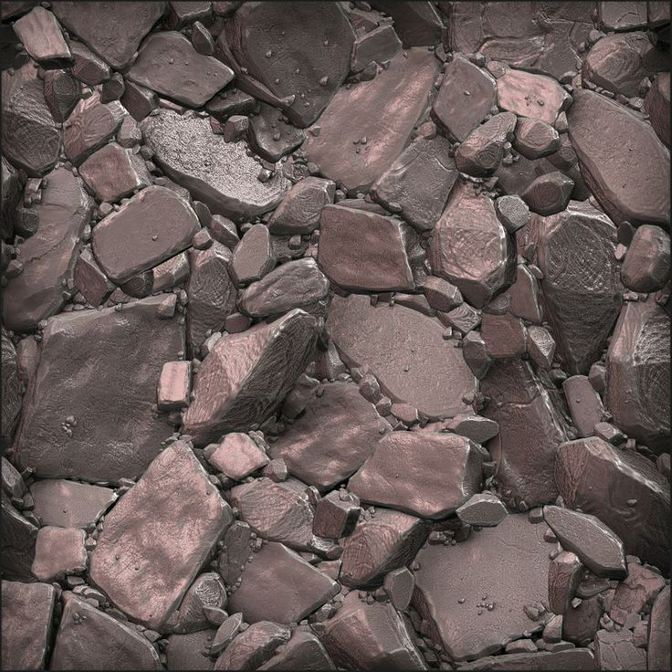 Zbrush and Mudbox Sculpts : Great volumetric rocks. This texture pops out.