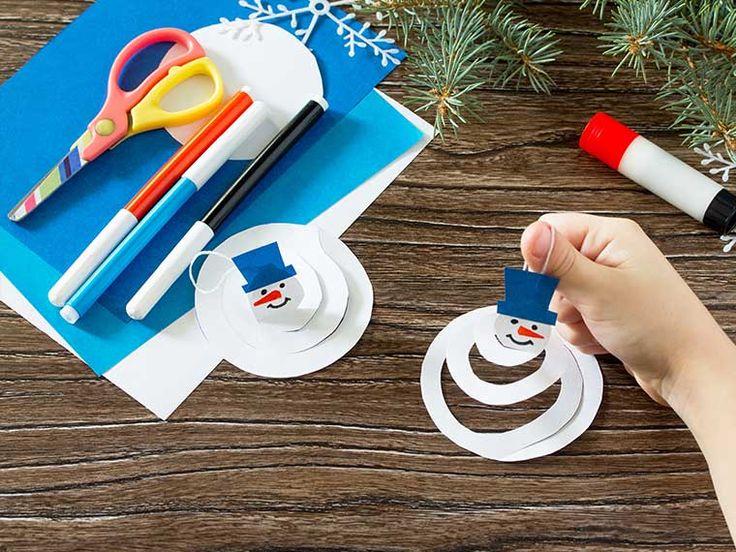 15x voor Kerst knutselen voor kerst: een sneeuwpop of sneeuwman maken van papier
