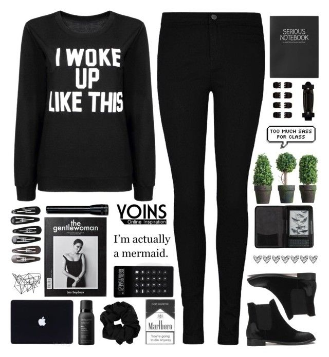 """""""Too much sass for class. // Yoins 25"""" by ladyturquoise8 ❤ liked on Polyvore featuring moda, Forever 21, Cole Haan, Color Me, Topshop, LEXON, Clips, Living Proof, women's clothing y women"""
