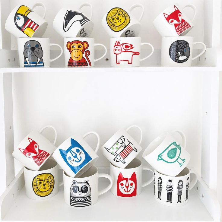 I've been going through my kitchen cupboards to look at the mugs I've designed so far for @makeinternational - here are some of them - I couldn't get all of them in the photo - after these earlier ones came my animal magic range, my Scandi Linea range and twelve zodiac mugs! I hadn't realised quite how many had been produced - it makes me so happy as I love illustrating for products. Lots of gratitude today x Do any of you own one or have a favourite by any chance? I still love my Panda and…