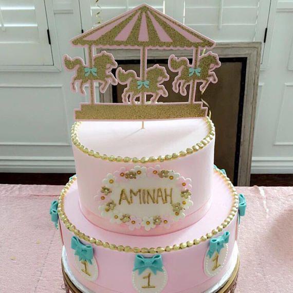 Carousel Cake Topper Carousel Party Carousel Birthday
