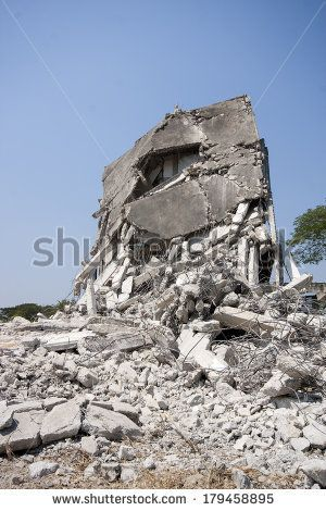 Abandoned buildings destroyed In order for new building