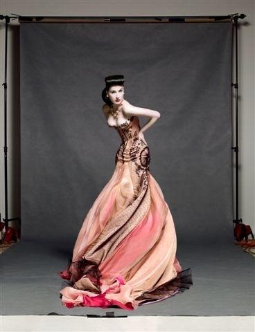 Dita Von Teese for Harper's Bazaar Australia in J'Aton Couture