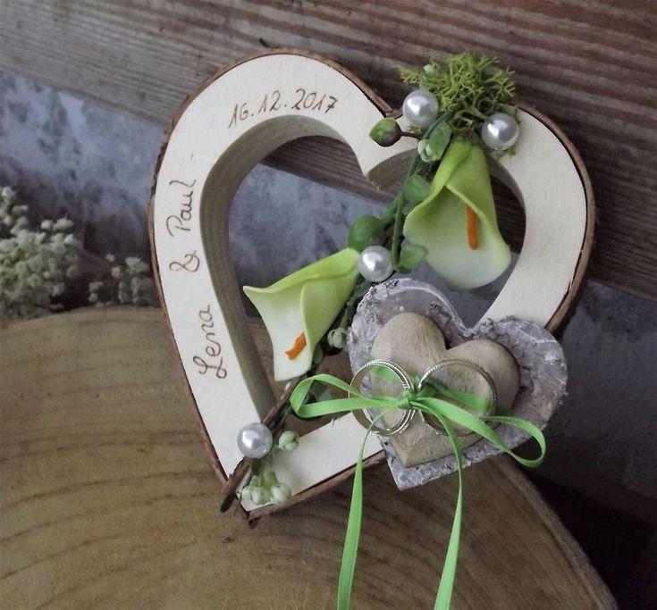 Ringkissen Herz Holzherz Calla grün Ringhalter für Eheringe mit Namen Hochzeit | Kleidung & Accessoires, Hochzeit & Besondere Anlässe, Braut-Accessoires | eBay!