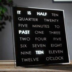 TOP 50 - Orologio LED Word Clock - L'orologio che DICE l'ora...letteralmente!