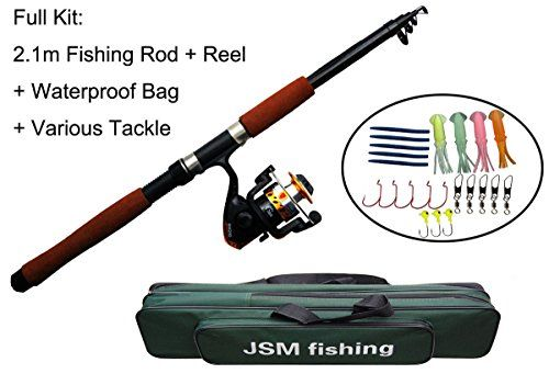 JSHANMEI Spin Spinning Rod and Reel Combos Fishing Carrier Bag Case Portable Telescopic Fishing Rod with Reel Combo Sea Fishing Saltwater Freshwater Fishing Pole Rod Set - http://fishingrodsandreels.nationalsales.com/jshanmei-spin-spinning-rod-and-reel-combos-fishing-carrier-bag-case-portable-telescopic-fishing-rod-with-reel-combo-sea-fishing-saltwater-freshwater-fishing-pole-rod-set/