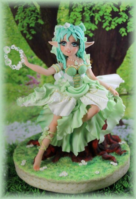 Green, wild elf - Cake by L'atelier de Natasel