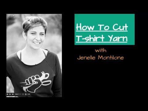 how to cut a tshirt into yarn