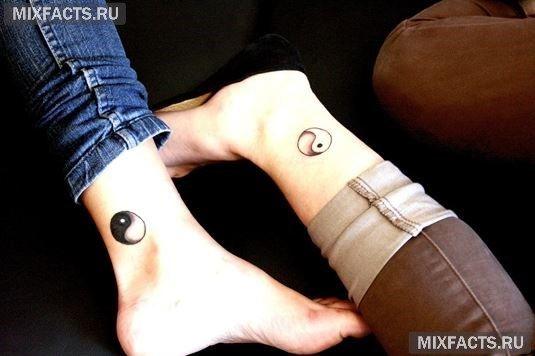 татуировка инь-ян