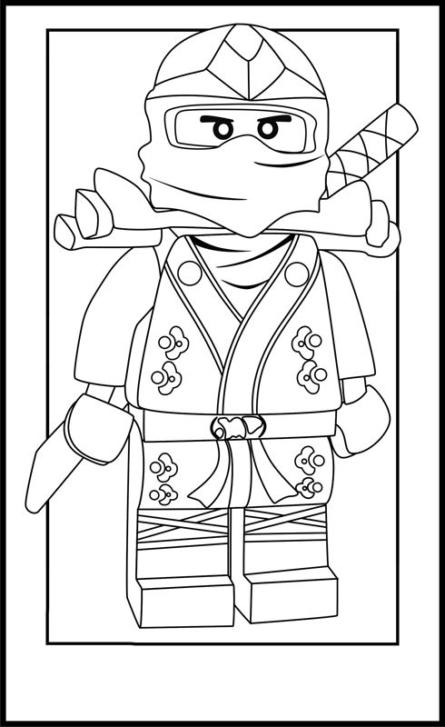 Lego Ninja Go Coloring Pages 17