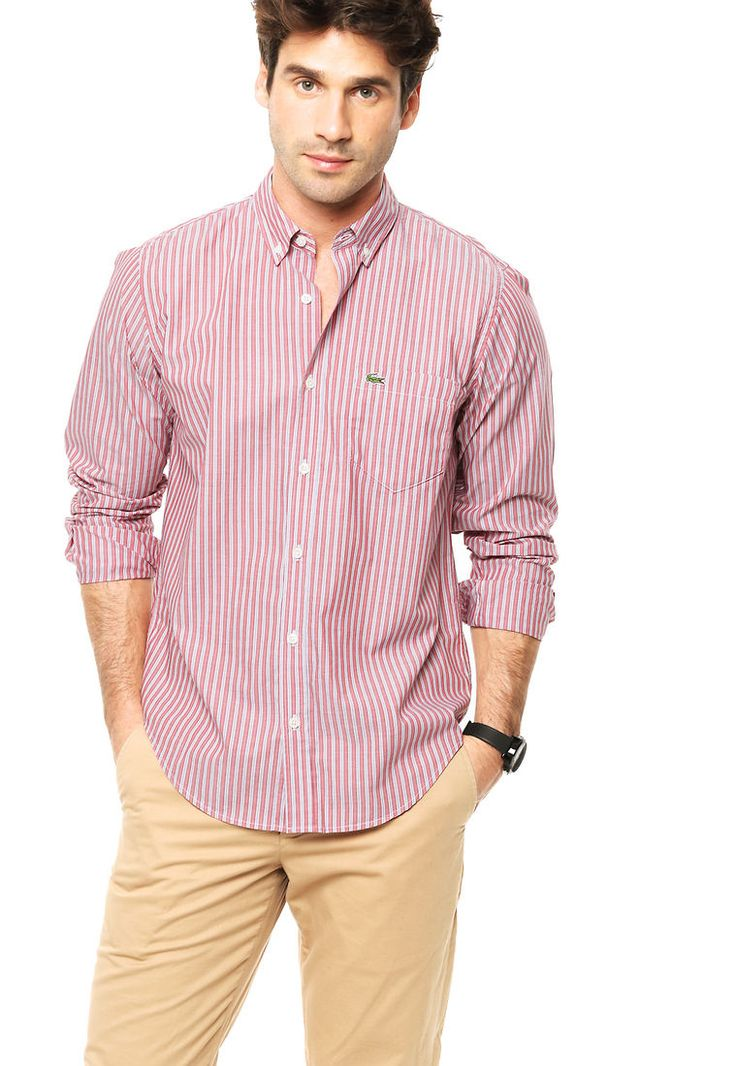Camisa Roja Lacoste - Comprá Ahora | Dafiti Argentina