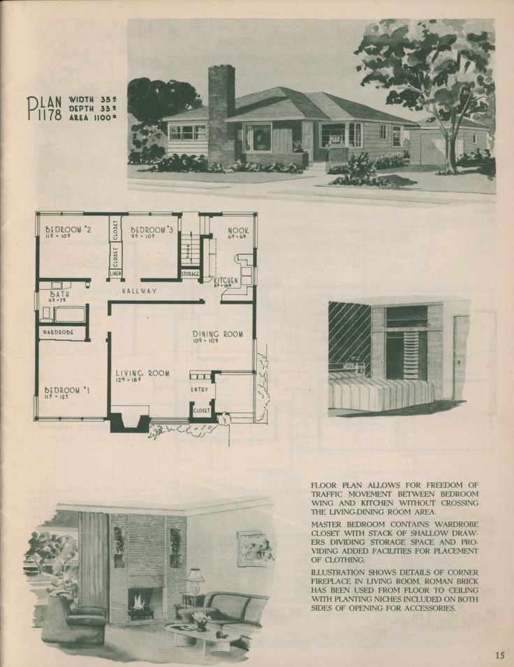Plan 1178 from Selected home plans by