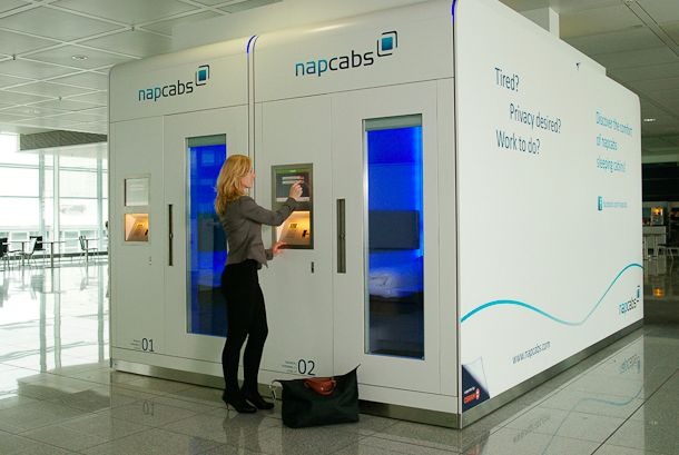 NapCabs in Munich airport. Goodbye layover from hell!    http://megamondotravel.com