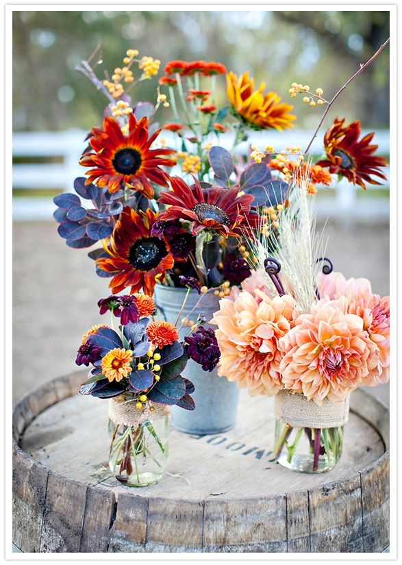 vibrant autumn floral arrangements