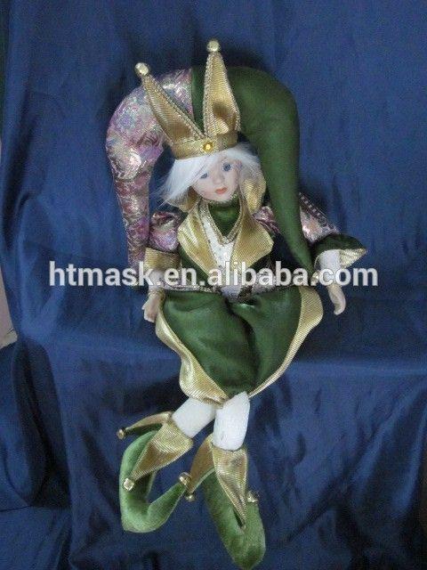 plush Christmas elf hanging on candy cane toy /christmas ornaments stuffed elf dolls/Christmas tree decoration stuffed toys