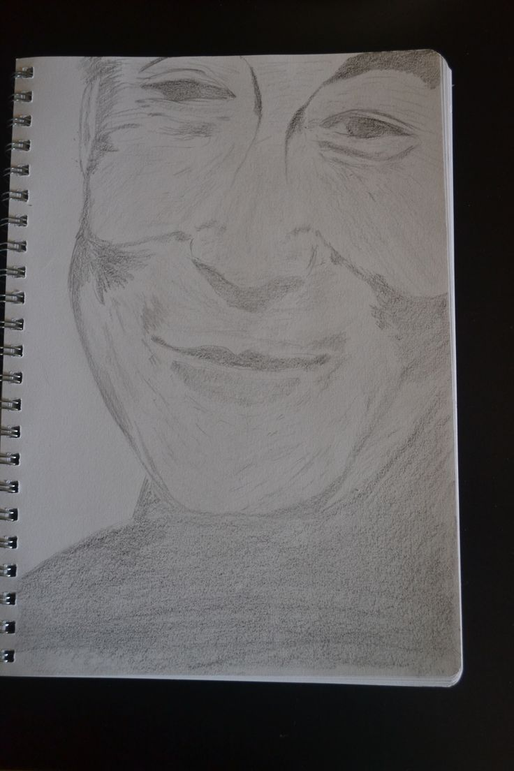 my sketch of the Dalai Lama from a photo