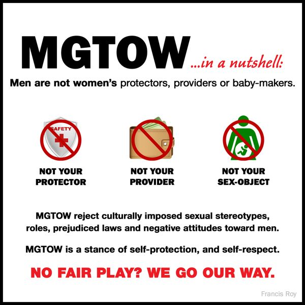 MGTOW (Men Going Their Own Way), in its current state, is an