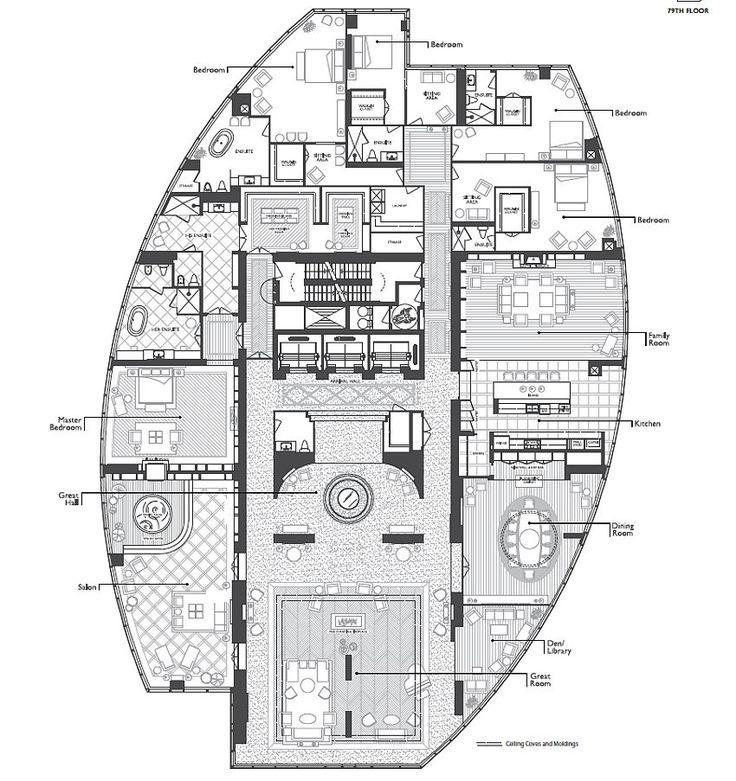 Aura Top Floor Penthouse Floorplan 518 Px Floor Plans Floor Plan Design Office Building Plans