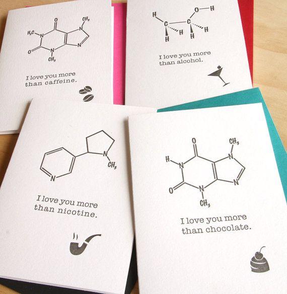 Día de San Valentín te amo más... molecular por fluidinkletterpress