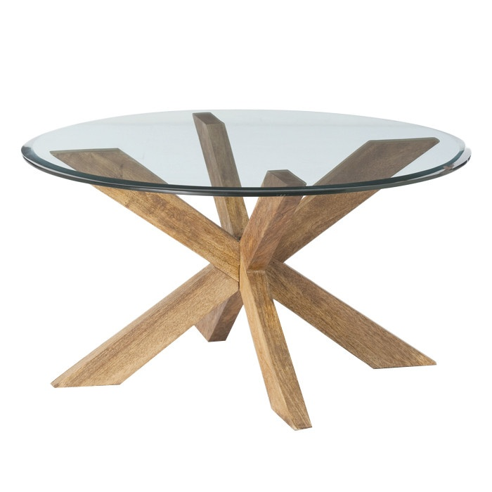 ARTERIORS Home Gwenieve Coffee Table - love the mix of natural wood and glass top