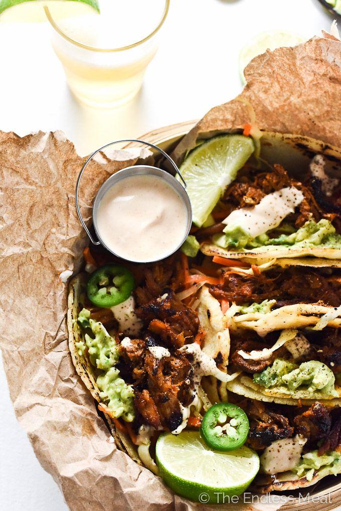 Crock Pot Pork Tacos with Crunchy Carrot Slaw | Recipe ...