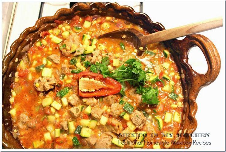 Pork with Zucchini and Corn Stew/Calabacitas Con Puerco y Elote
