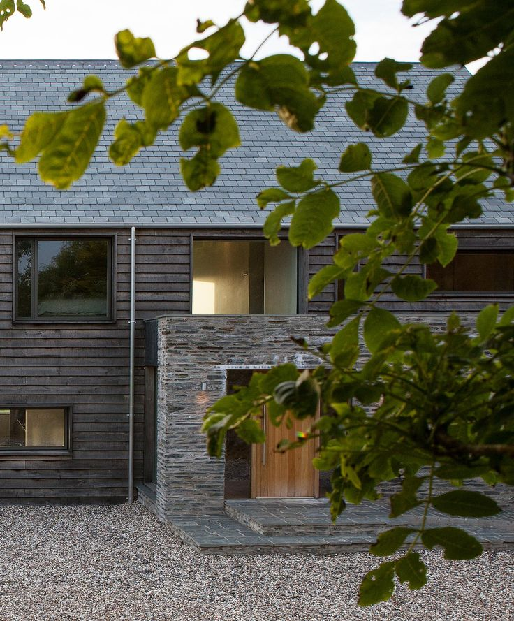 New build House, McLean Quinlan Architects Keywords: Architecture, Interior, Modern house, Timber cladding, oak, barn, exterior, stone