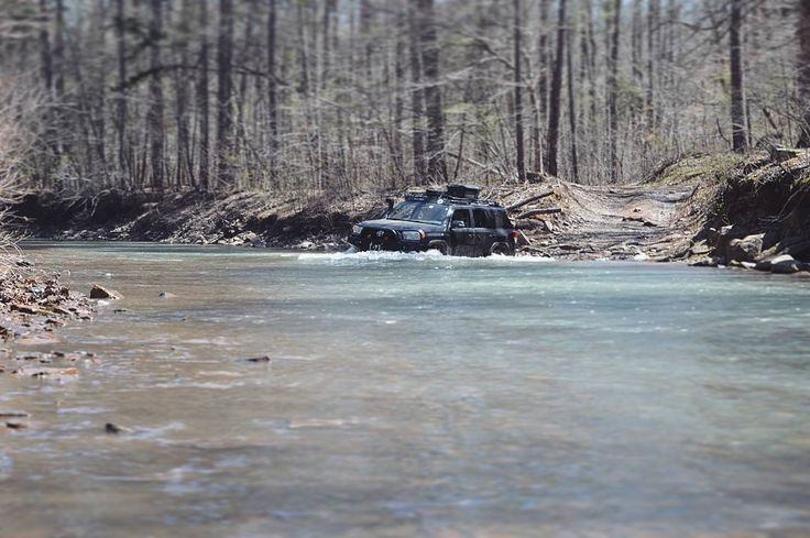 One of the many crossings we did on our Arkansas adventure this past weekend! @kccarguy going for a swim!  Photo: @masont4r  #theoverlandadventures #overland #overlanding #toyota #4runner #5thgen #toyota4runner #offroad #offroading #exploreeverything #expedition #exploration #adventuremobile #neverstopexploring #goexplore #getoutside #overlandjournal #expeditionportal #explore #adventure #watercrossing #overlandtextilecompany #ozarks #ozarkmountains #ozarknationalforest #arkansas…