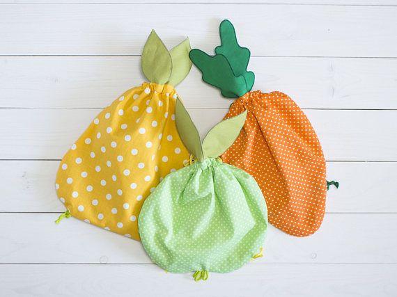 Cotton backpack Kids backpacks Bright color bag Fruit