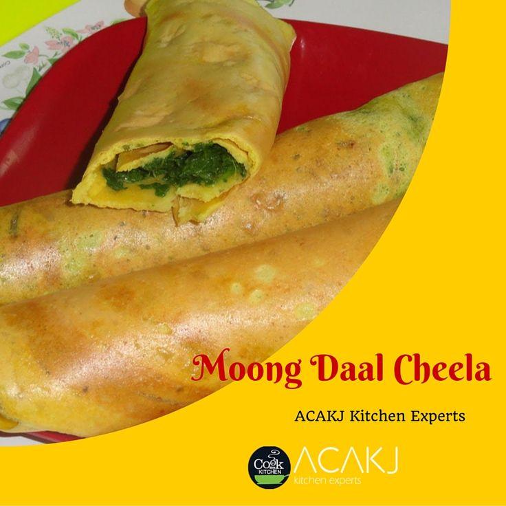 Enjoy Light #dish with zero oil cooking #MoongDalChilla  Get reciepe via #kitchenpops #blog  #ACAKJKitchenExperts https://kitchenpops.wordpress.com/2013/03/22/stuffed-moong-dal-chilla/