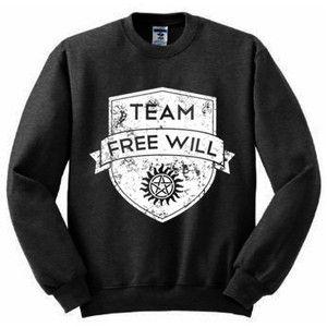 Supernatural Sweatshirt S-2xl Team Will Sam Dean Castiel Winchester Impala Hoodie
