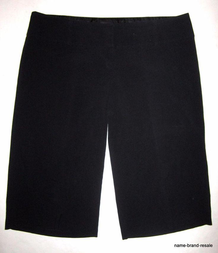 e87d8ec8f30 TORRID Black Gaucho PANTS Plus Size 22 3X Dressy Capris Cropped Crop Wide  Leg  Torrid  CaprisCropped