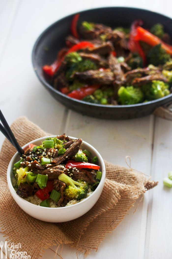 Crock Pot Asian Beef with Paleo Rice Bowls
