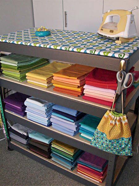 How come I never thought about a table top ironing board? Freaking smart and awesome!