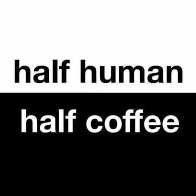 Coffee and I.