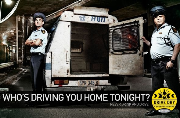 Advertising Agency: FoxP2, Cape Town, South Africa. Brandhouse Drive Dry Initiative: Who's Driving You Home Tonight?