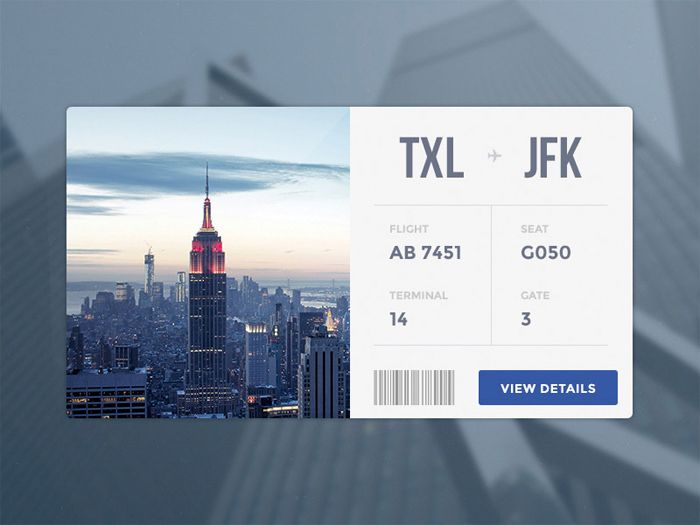 20 Beautiful Boarding Pass Designs [Showcase] - Hongkiat