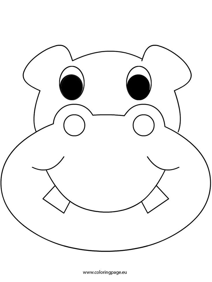 Hippo coloring pages for preschoolers ~ 404 best images about QUIET BOOK and FELT Patterns on ...